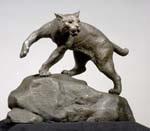 Image of UNH Wildcat Statue replica